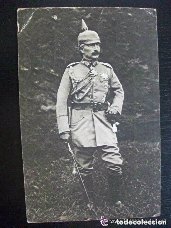 POSTAL DE LA CRUZ ROJA DE ALEMANIA CON FOTO DEL KAISER. CIRCULADA DESDE LA CORUÑA, 1918. (Postales - Postales Temáticas - I Guerra Mundial)