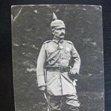 Postales: POSTAL DE LA CRUZ ROJA DE ALEMANIA CON FOTO DEL KAISER. CIRCULADA DESDE LA CORUÑA, 1918.. Lote 114061675