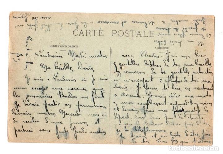 Postales: TARJETA POSTAL LANDRECIES. FRANCIA. RUINES DE LHOTEL DE VILLE INCENDIÉ PAR LES ALLEMANDS 1918 - Foto 2 - 126646010