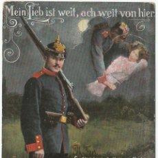 Postales: MEIN LIEB IST WEIT / MI AMOR ESTÁ LEJOS - EDITA LP 5173 - CIRCULADA 1918. Lote 128896955