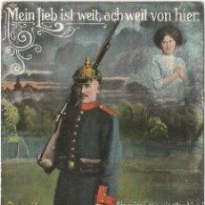 Postales: MEIN LIEB IST WEIT / MI AMOR ESTÁ LEJOS - EDITA LP 5173 - CIRCULADA 1918. Lote 128897323