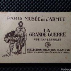 Postales: MUSEE DE L'ARME .- LA GRANDE GUERRE VUE PAR LES POILUS .- COLLECTION FLAMENG .- 20 POSTALES. Lote 129342612