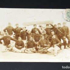 Postales: POSTAL SOLDADOS FRANCESES CIRCULADA EN 1906. Lote 129635167