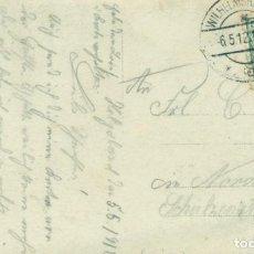 Postales: ALEMANIA ACORAZADO SMS POSEN TRIPULACIÓN Y CAÑONES DEL BUQUE. CIRCULADA EN 1912.. Lote 134317610