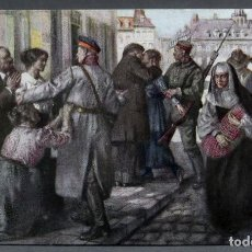 Postales: POSTAL PRIMERA GUERRA MUNDIAL LOS ALEMANES EN LILA GUERRE EUROPEEN 1914 1918 ED PATRIOTIQUE . Lote 136583326