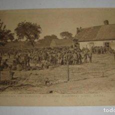 Postales: POSTAL DE LA 1ª GUERRA MUNDIAL. DAILY MAIL WAR PICTURE. SEDIENTOS ALEMANES DETRÁS DE LA ALAMBRADA.. Lote 140369578