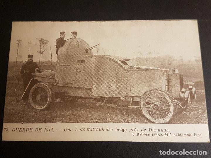 GUERRA DE 1914 TANQUE BELGA (Postales - Postales Temáticas - I Guerra Mundial)