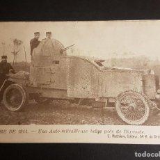 Postales: GUERRA DE 1914 TANQUE BELGA. Lote 140605106