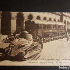 Postales: GUERRA DE 1914 TANQUE Y VAGON DEL ARSMITICIO. Lote 140605258