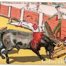 Postales: 1ª GUERRA MUNDIAL: LA CORRIDA INTERNACIONAL, EL PRIMER TERCIO.. Lote 141797030