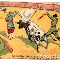 Postales: 1ª GUERRA MUNDIAL: LA CORRIDA INTERNACIONAL, EL SEGUNDO TERCIO.. Lote 141797114