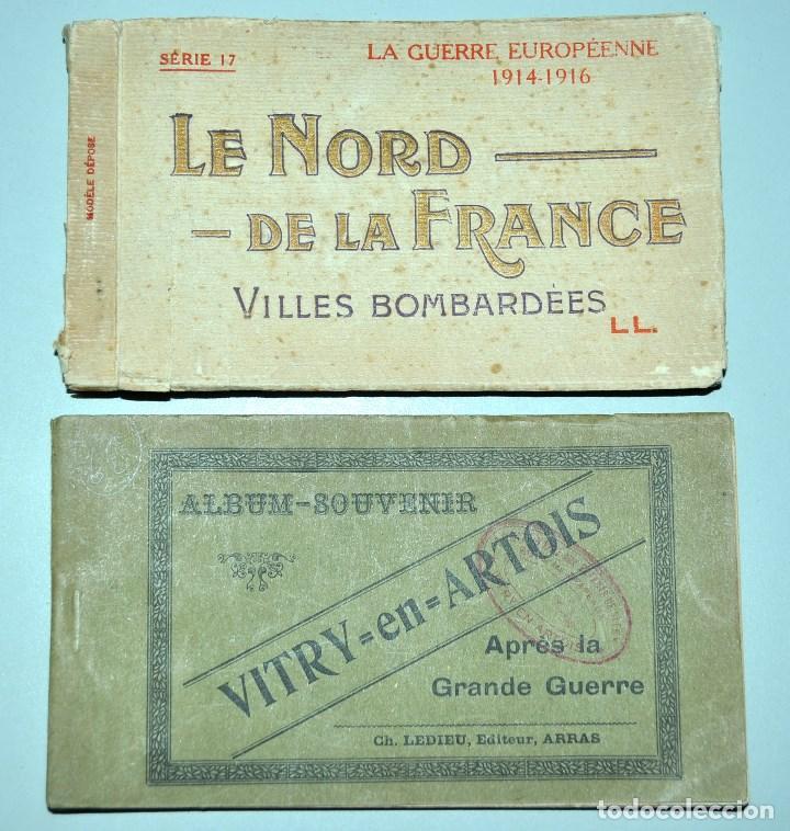 I GUERRA MUNDICAL. 2 BLOCS DE CIUDADES BOMBARDEADAS. NORTE DE FRANCIA Y VITRY EN ARTOIS. POSTALES (Postales - Postales Temáticas - I Guerra Mundial)