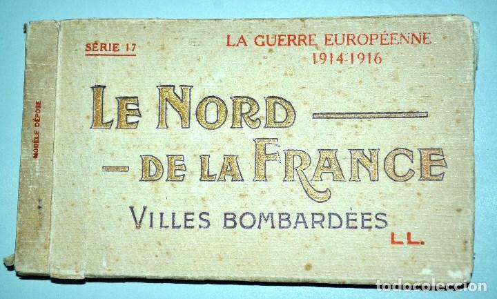 Postales: I GUERRA MUNDICAL. 2 BLOCS DE CIUDADES BOMBARDEADAS. NORTE DE FRANCIA Y VITRY EN ARTOIS. POSTALES - Foto 2 - 141972330