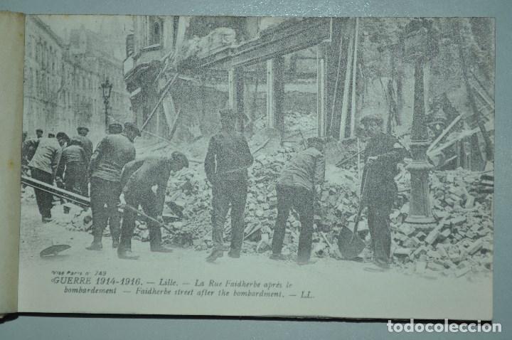 Postales: I GUERRA MUNDICAL. 2 BLOCS DE CIUDADES BOMBARDEADAS. NORTE DE FRANCIA Y VITRY EN ARTOIS. POSTALES - Foto 5 - 141972330