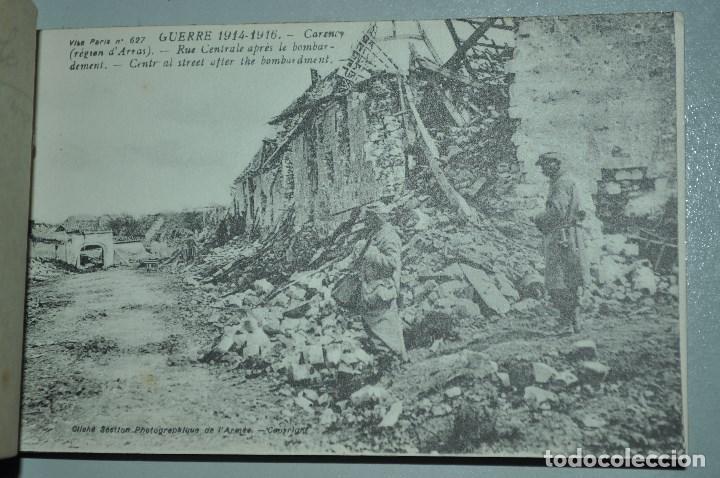 Postales: I GUERRA MUNDICAL. 2 BLOCS DE CIUDADES BOMBARDEADAS. NORTE DE FRANCIA Y VITRY EN ARTOIS. POSTALES - Foto 10 - 141972330