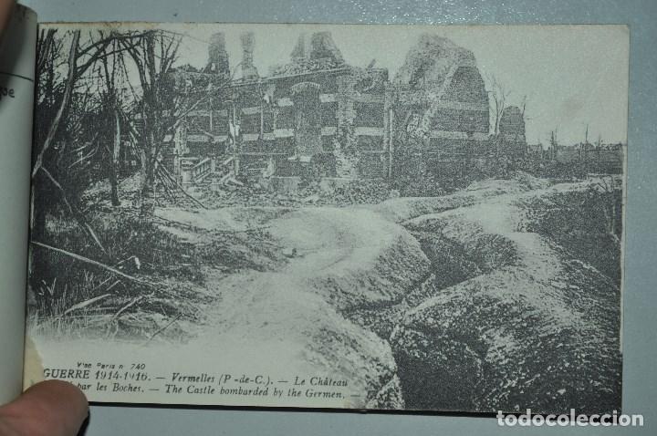 Postales: I GUERRA MUNDICAL. 2 BLOCS DE CIUDADES BOMBARDEADAS. NORTE DE FRANCIA Y VITRY EN ARTOIS. POSTALES - Foto 13 - 141972330