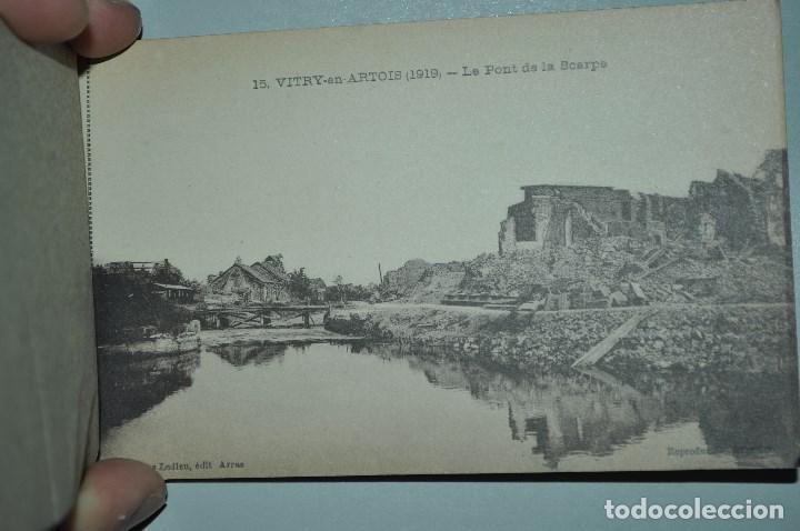 Postales: I GUERRA MUNDICAL. 2 BLOCS DE CIUDADES BOMBARDEADAS. NORTE DE FRANCIA Y VITRY EN ARTOIS. POSTALES - Foto 31 - 141972330