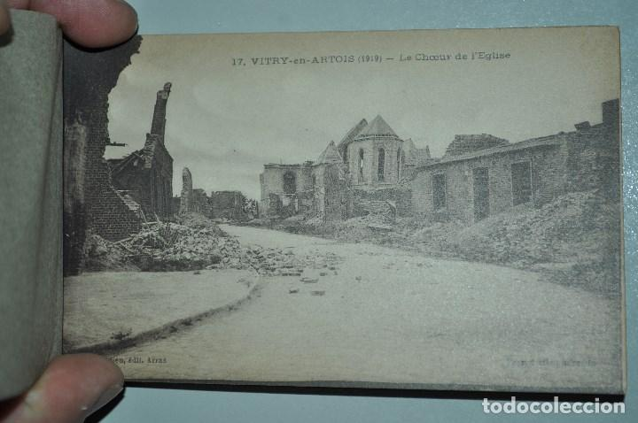 Postales: I GUERRA MUNDICAL. 2 BLOCS DE CIUDADES BOMBARDEADAS. NORTE DE FRANCIA Y VITRY EN ARTOIS. POSTALES - Foto 33 - 141972330