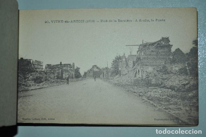 Postales: I GUERRA MUNDICAL. 2 BLOCS DE CIUDADES BOMBARDEADAS. NORTE DE FRANCIA Y VITRY EN ARTOIS. POSTALES - Foto 36 - 141972330
