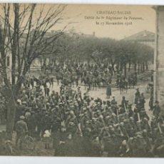 Postales: POSTAL. FRANCIA. 1ª GUERRA MUNDIAL. CHATEAU-SALINS. DÉFILÉ DU 8E RÉGIMENT DE ZOUAVES 1918.. Lote 145978282