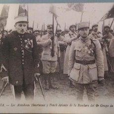 Postales: POSTAL MILITARES I GUERA MUNDIAL FRANCIA AVIADORES HEURTEAUX Y FONCK EJERCITO FRANCES PARIS PERFECTA. Lote 147977146