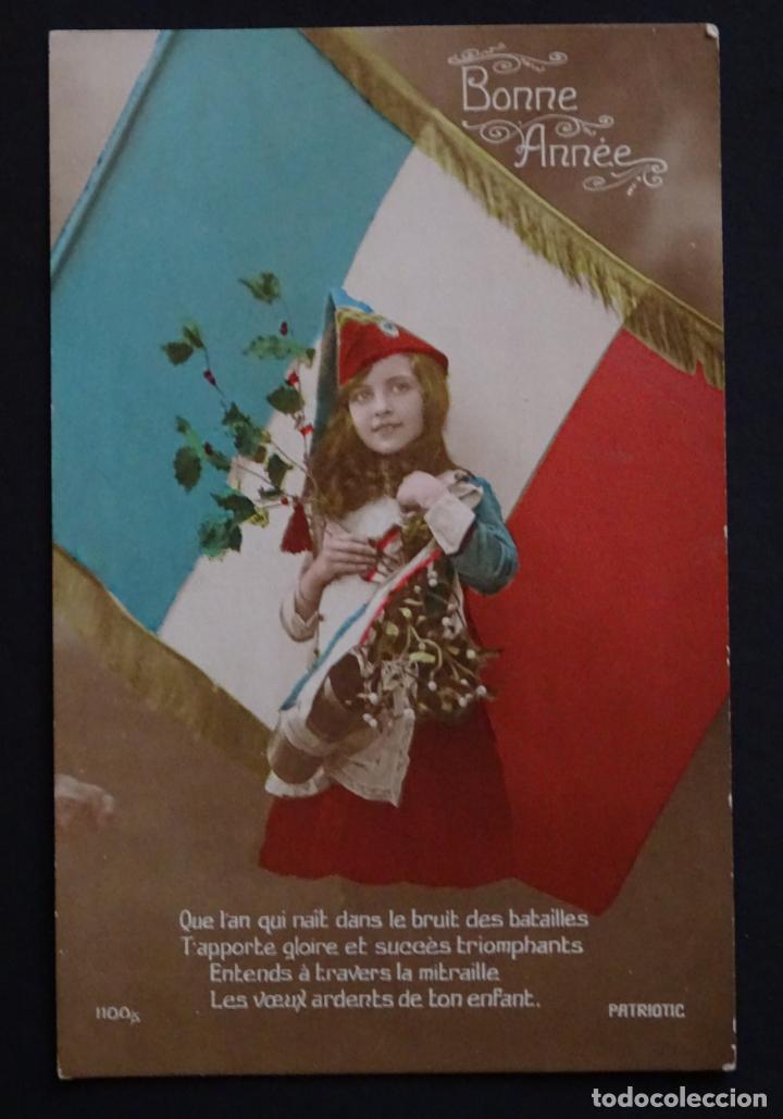 POSTAL PATRIÓTICA FRANCESA , SIN CIRCULAR . (Postales - Postales Temáticas - I Guerra Mundial)