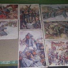 Postales: 7 POSTALES OFICIALES DE LA CRUZ ROJA, PATRIOTICAS AUSTRIA, ILUSTRA A. MARUSSIG, DE EPOCA. Lote 151468162