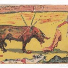 Postales: RECUERDO DE LA GUERRA EUROPEA-IX- 1914, LA CORRIDA INTERNACIONAL- MB SEVILLA. Lote 154172446