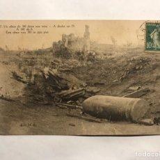 Postales: I GUERRA MUNDIAL. POSTAL FRANCESA. EFECTOS DE UN OBUS. EDITA : H. S. (H.1915?). Lote 158114984