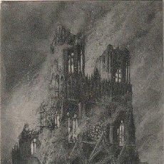 Postales: POSTAL CATEDRAL DE REIMS DESPUES DEL BOMBARDEO 1914 1ª GUERRA MUNDIAL ESCRITA 1915 -D-4. Lote 158421434