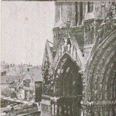 Postales: POSTAL CATEDRAL DE REIMS DESPUES DEL BOMBARDEO 1914 1ª GUERRA MUNDIAL ESCRITA -D-4. Lote 158421642