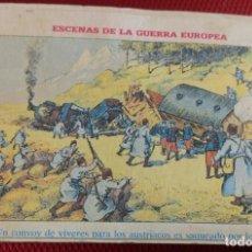 Postales: COLECCIÓN COMPLETA 36 CROMOS ESCENAS DE LA GUERRA EUROPEA.. Lote 166601878