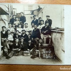 Postales: POSTAL FOTOGRAFICA. MARINOS TRIPULACION... BUQUE SMS WITTELSBACH. Lote 171541294