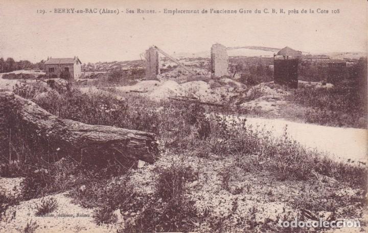 129 BERRY AU BAC AISNE FRANCIA (SIN CIRCULAR) (Postales - Postales Temáticas - I Guerra Mundial)