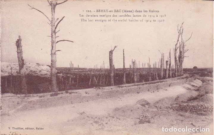 121 BERRY AISNE FRANCIA (SIN CIRCULAR) (Postales - Postales Temáticas - I Guerra Mundial)