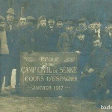 Postales: CAMPO PRISIONEROS ALEMANIA SENNELAGER. 1917. CURSO DE ESPAÑOL. MUY RARA. . Lote 173563157