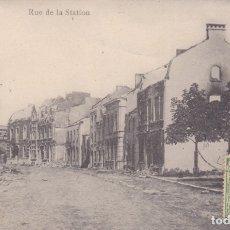 Postales: BATTICE RUE DE LA STATION BÉLGICA . Lote 173727045