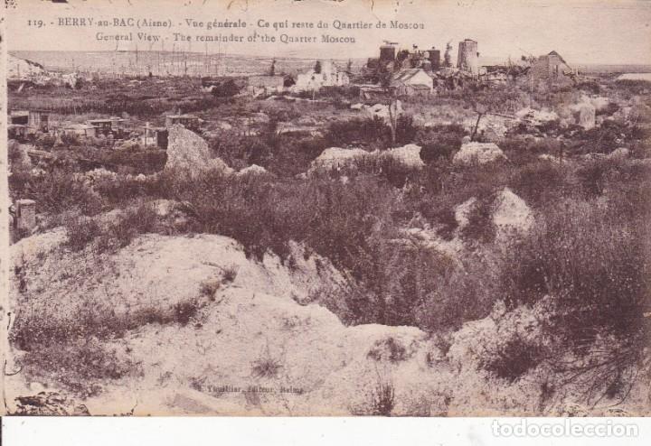 119 BERRY AU BAC AISNE FRANCIA (Postales - Postales Temáticas - I Guerra Mundial)