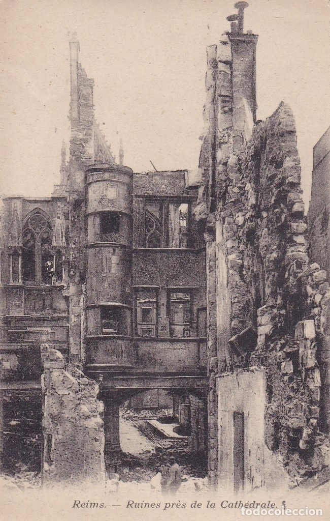 REIMS RUINES FRANCIA (Postales - Postales Temáticas - I Guerra Mundial)
