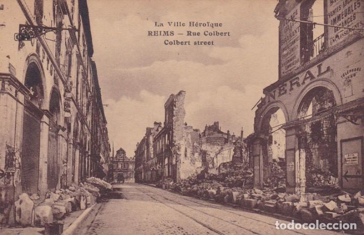 LA VILLE HÉROIQUE REIMS FRANCIA (Postales - Postales Temáticas - I Guerra Mundial)