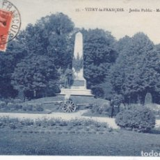 Postales: 55 VITRY-LE-FRANÇOIS MONUMENT CARNOT. Lote 173982288
