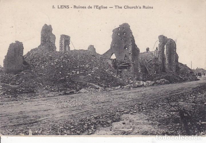 5 LENS RUINES DE L EGLISE (Postales - Postales Temáticas - I Guerra Mundial)