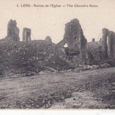 Postales: 5 LENS RUINES DE L EGLISE . Lote 173983075