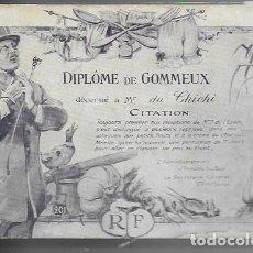 Postales: POSTAL ANTIGUA *DIPLÔME DE GOMMEUX * ( DANDY ). Lote 174275793