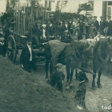 Postales: POSTAL FRANCESA HACIA 1915. PRISIONEROS ALEMANES ENAJULADOS EN UN CARRO DE BUEYES. FOTOGRÁFICA.. Lote 175977943