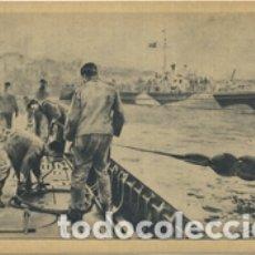 Postales: UN SUBMARINO ALEMÁN DE LA PRIMERA GUERRA MUNDIAL REGRESA A SU BASE. SIN CIRCULAR.. Lote 176769033
