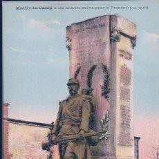 Postales: POSTAL FRANCIA - MAILLY LE CAMP A SES ENFANTS MORTS POUR LA FRANCE 1914-1918. Lote 184461106