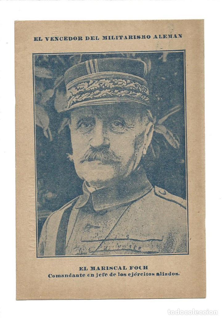 EL MARISCAL FOCH-COMANDANTE EJERCITOS ALIADOS-I GUERRA MUNDIAL-LA UTRERANA-VER REVERSO-(64.978) (Postales - Postales Temáticas - I Guerra Mundial)