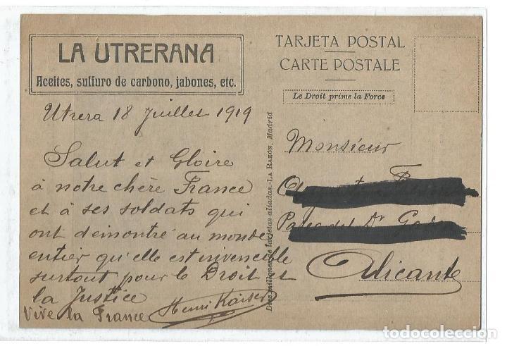 Postales: GEORGES CLEMENCEAU-I GUERRA MUNDIAL-LA UTRERANA-VER REVERSO-(64.979) - Foto 2 - 184642148