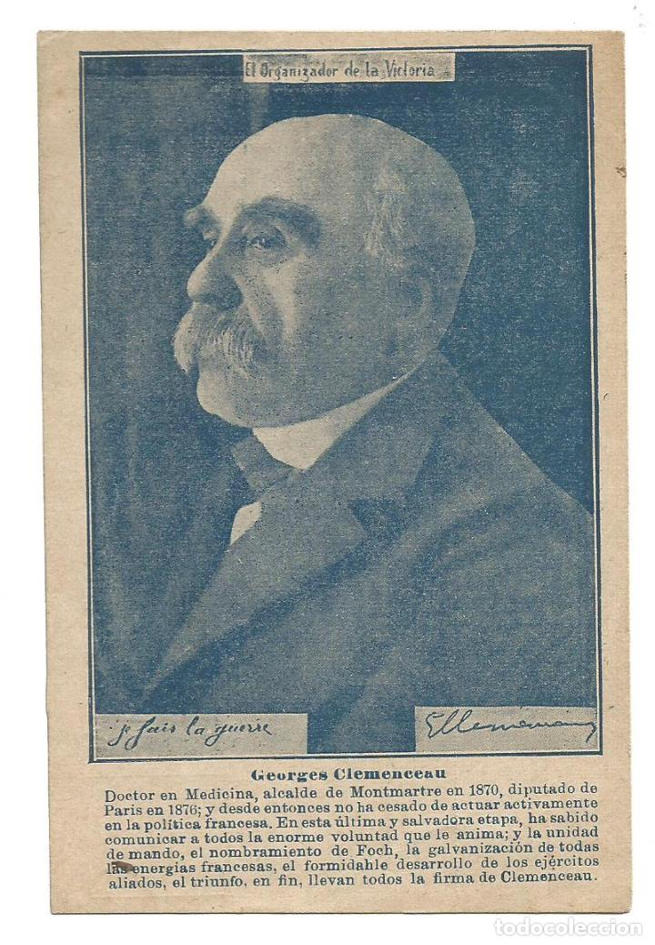 GEORGES CLEMENCEAU-I GUERRA MUNDIAL-LA UTRERANA-VER REVERSO-(64.979) (Postales - Postales Temáticas - I Guerra Mundial)